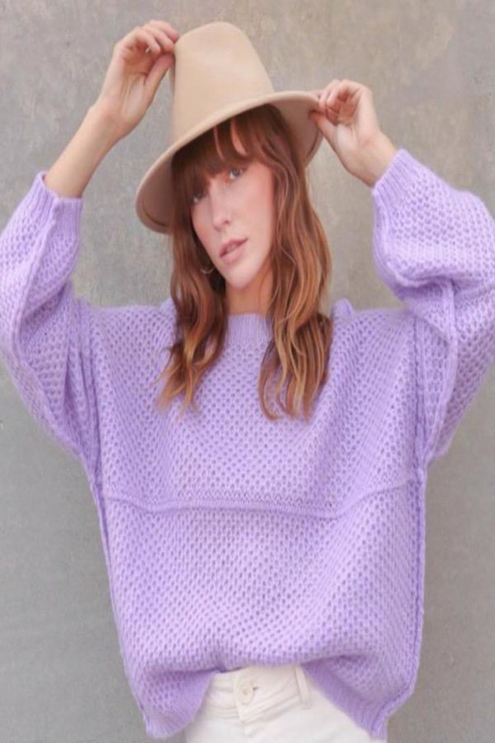Elle Knit Sweater - Lavender