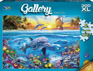 HOLDSON PUZZLE - GALLERY 5 300PC XL (DOLPHIN SHIP)