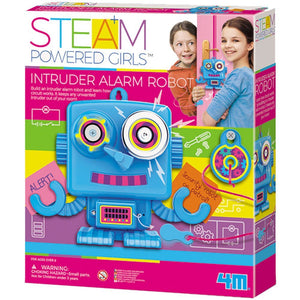 4M STEAM POWERED GIRLS - INTRUDER ALARM ROBOT