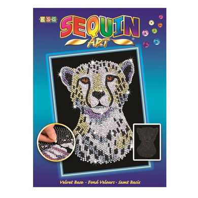 SEQUIN ART - SNOW CHEETAH