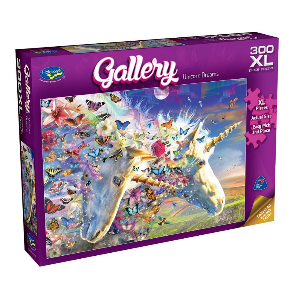 HOLDSON PUZZLE - GALLERY 6 300PC XL (UNICORN DREAMS)