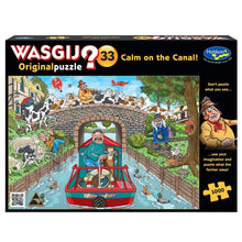 Load image into Gallery viewer, HOLDSON PUZZLE - WASGIJ ORIGINAL 33 1000PC (CALM ON THE CANAL!)