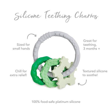 Silicone Teething Charms: Green