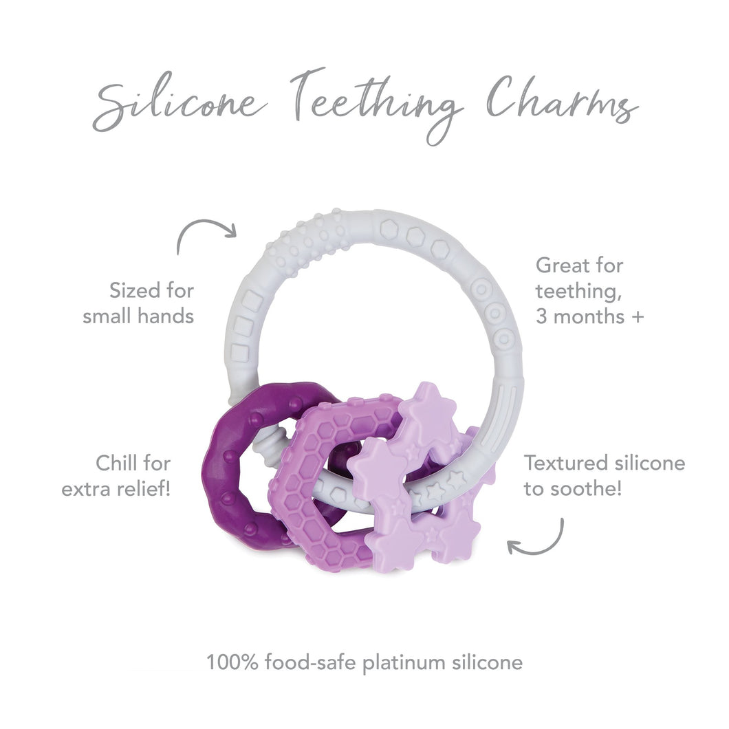 Silicone Teething Charms: Purple
