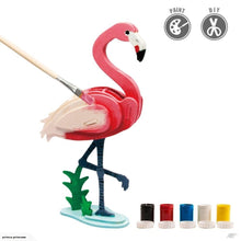 Load image into Gallery viewer, Robotime Painting 3D Wooden Puzzle - Flamingo