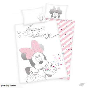 Minnie Mouse Cot Cotton Duvet Cover And Pillowcase