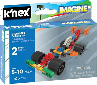 KNEX - DRAGSTER MICRO 40PC BUILDING SET