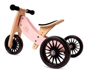 Kinderfeet Tiny Tot Plus: 2-in-1 Bike - Rose