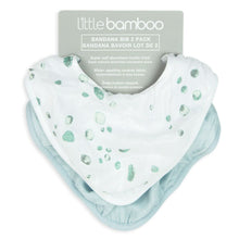 Load image into Gallery viewer, BAMBOO MUSLIN BIB 2PK WHISPER