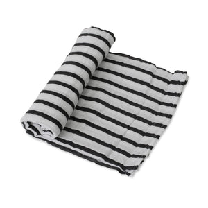 Single Cotton Muslin Swaddle - Breton Stripes