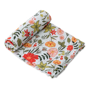 Single Cotton Muslin Swaddle - Primrose Patch