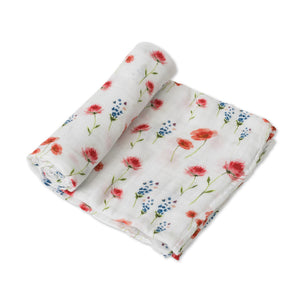 Single Cotton Muslin Swaddle - Wild Mums