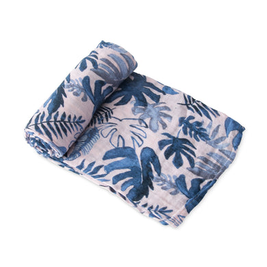 Single Cotton Muslin Swaddle - Tropical Pink