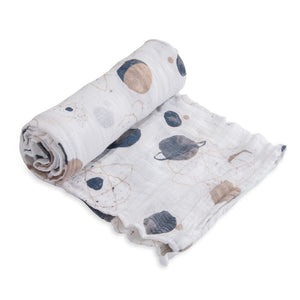 Single Cotton Muslin Swaddle - Planetary