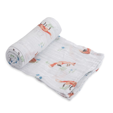 Single Cotton Muslin Swaddle - Fox