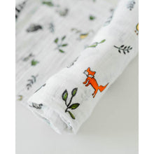 Load image into Gallery viewer, Single Cotton Muslin Swaddle - Forest Friends