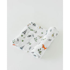 Single Cotton Muslin Swaddle - Forest Friends