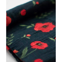 Load image into Gallery viewer, Single Cotton Muslin Swaddle - Dark Summer Poppy