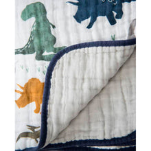 Load image into Gallery viewer, Cotton Muslin Quilt - Dino Friends