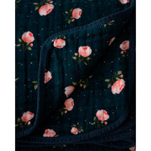 Load image into Gallery viewer, Cotton Muslin Quilt - Midnight Rose