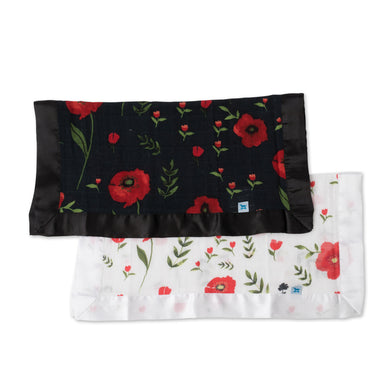 Muslin Security Blanket 2pk - Summer Poppy & Dark Poppy