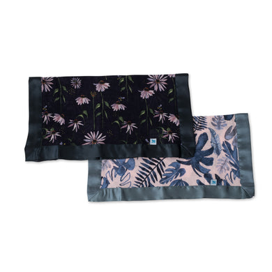 Muslin Security Blanket 2pk - Tropical Pink & Dark Coneflower