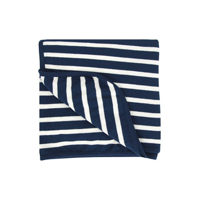 Merino/Organic Cotton swaddle/blanket - Midnight Stripe