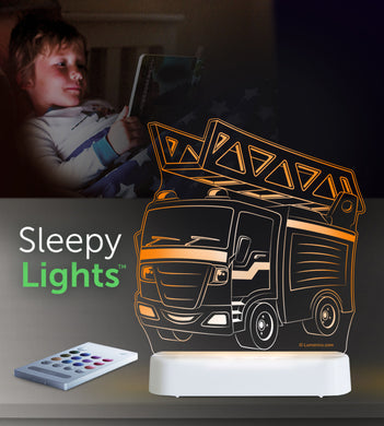 Aloka USB/Battery LED Night Light - Fire Engine