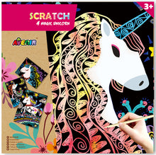 Load image into Gallery viewer, Avenir: Scratch Art Kit - Magic Unicorns