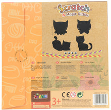 Load image into Gallery viewer, Avenir Scratch Art Kit - Magic Kitties