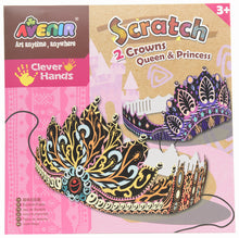 Load image into Gallery viewer, Avenir Scratch Art Kit - Princess Crowns