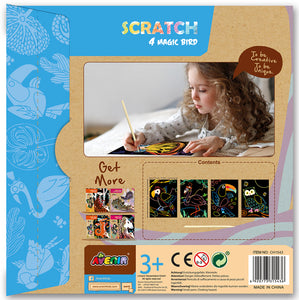 Avenir: Scratch Art Kit - Magic Bird