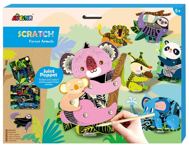 Scratch Jointed Puppet Kit Forest Animals