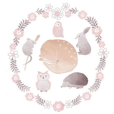 REMOVABLE WALL DECALS - FOREST FRIENDS