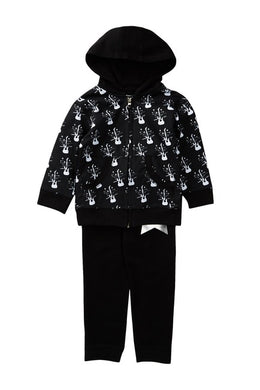 Rock Star | black baby hooded sweat suit