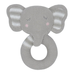 ELI THE ELEPHANT KNITTED RATTLE