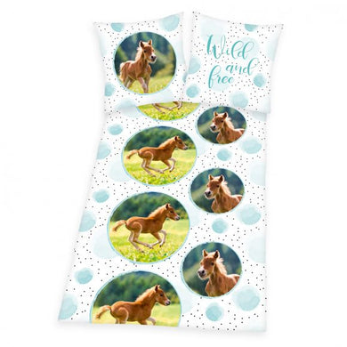 Foal Single Cotton Duvet Cover And Pillowcase