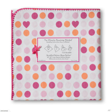 Ultimate Receiving Blanket - Dots and Hearts