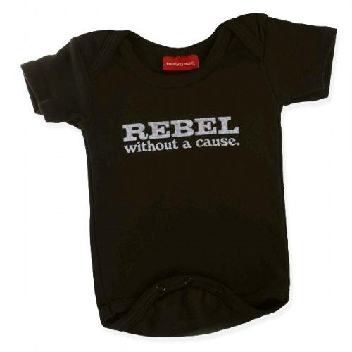 Rebel baby bodysuit - black