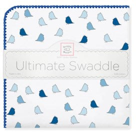 Little Chickies Ultimate Receiving Blanket - blue