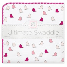 Little Chickies Ultimate Receiving Blanket - berry