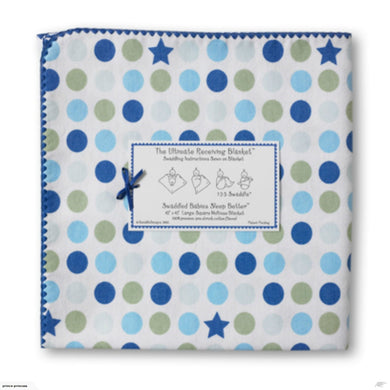 Stars and Dots Ultimate Receiving Blanket Blue