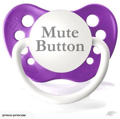 Mute Button Pacifier Purple