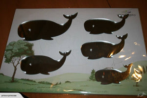 Set of whale - mirror