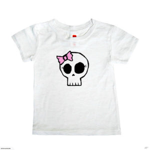 Girly Skull Burnout T-shirt (white)