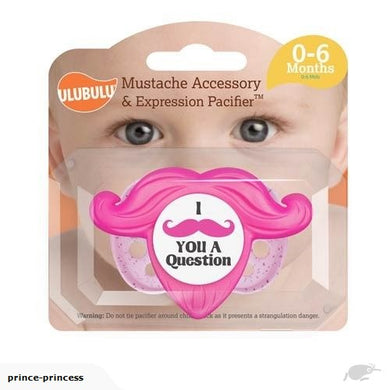 Pink Mustache Pacifier & Accessory