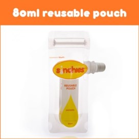 Sinchies 80ml Reusable Food Pouches - 10 pack