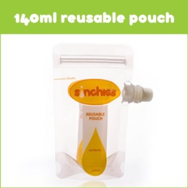 Sinchies 140ml reusable food pouches pack of 5