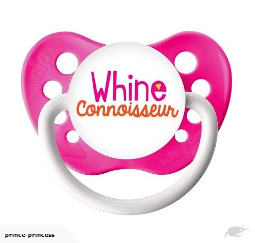 Whine Connoisseur - Neon Pink - 6-18M Pacifier