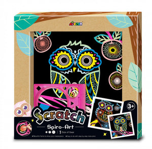 Photo Frame Scratch Spiro Art Owl